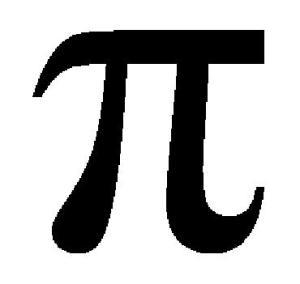 The symbol for pi