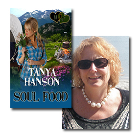 Soul Food cover art and Tanya Hanson author photo