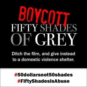 Boycoot Fifty Shades of Grey poster