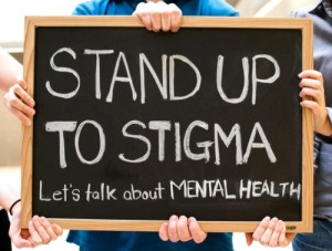 Stand up to stigma. Let's talk about mental health.